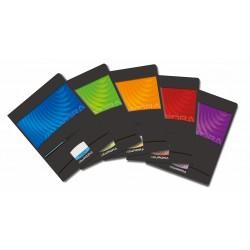 Caiet A5, 60 file - 90g/mp, liniat stanga, coperta carton lucios, AURORA Mano - dictando