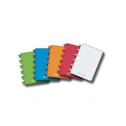 Caiet A6, 72 file - 90g/mp, coperta PP transparent color, AURORA Adoc - matematica