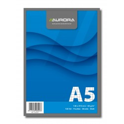 Blocnotes capsat, A5, 100 file - 60g/mp, microperforatii, AURORA Office - matematica