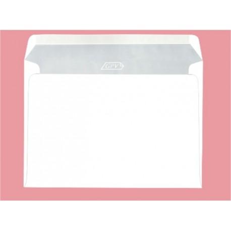 Plic DL alb gumat (110x220mm) 25buc/set