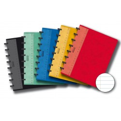 Caiet A5, 72 file - 90g/mp, coperta carton color embosat, AURORA Adoc - dictando