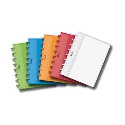Caiet A5, 72 file - 90g/mp, coperta PP transparent color, AURORA Adoc - matematica