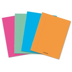 Caiet A4, 36 file - 80g/mp, liniat stanga, coperta PP transparent color, AURORA - matematica