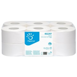 Hartie igienica alba, 2 straturi, 140m, portionata, Papernet