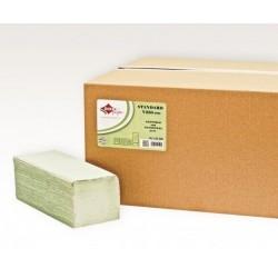 Prosop V hartie pliat verde 21.5*25 cm ,250buc/set