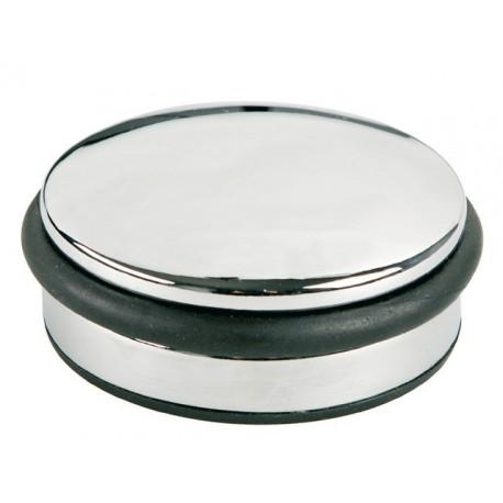 Opritor metalic, pentru usa, rotund, cu inel de cauciuc, ALCO Design - argintiu