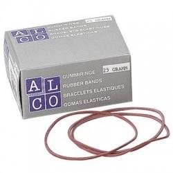 Elastice pentru bani, 50g/cutie, D 85 x 1,5mm, ALCO
