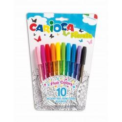 Pix cu cerneala fluorescenta, 10 buc/blister, CARIOCA Fiorella