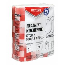 Prosop rola bucatarie, alb, 9.25m, 2 straturi, 2buc/set, Office Products