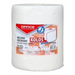 Prosop rola bucatarie, alb, 60m, 2 straturi, Office Products