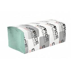 Servetele Z hartie reciclata, verde 23x23cm, 1 strat, 200buc/set, 20set,economy Office Products