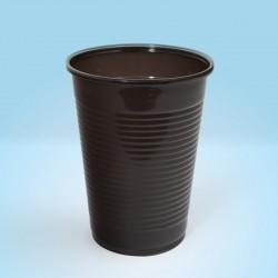 Pahare plastic 200ml, 100buc/set, maro, Office Products
