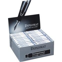 Patroane cerneala, 5 buc/cutie, DIPLOMAT - negru