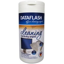 Servetele curatare monitoare TFT/LCD, 100/tub (50umede/50uscate), DATA FLASH