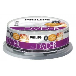 DVD-R 4.7GB (25 buc. Spindle, 16x) PHILIPS