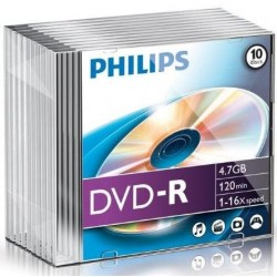 DVD-R 4.7GB Slimcase, 16x, PHILIPS