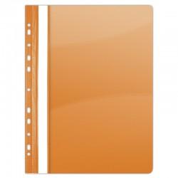 Dosar plastic PVC, cu sina si multiperforatii, 10 buc/set, DONAU - orange