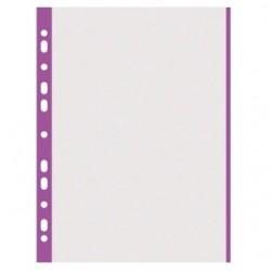 Folie protectie cu margine color, 40 microni, 100folii/set, DONAU - margine violet