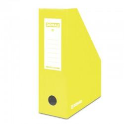 Suport vertical pentru cataloage, A4 - 10cm latime, din carton laminat, DONAU - galben