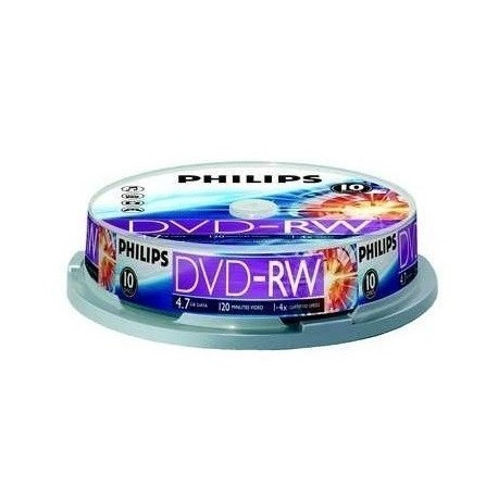 DVD-RW 4.7GB (10 buc. Spindle, 4x) PHILIPS
