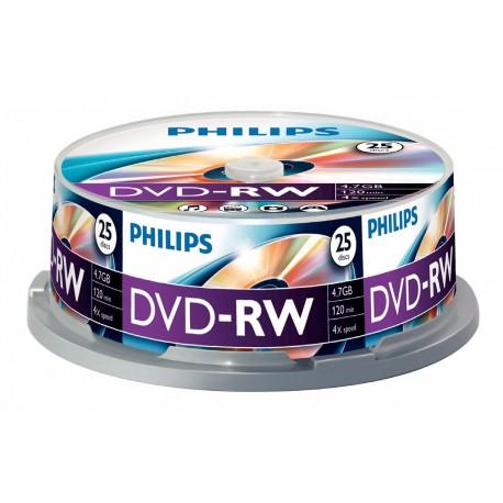 DVD-RW 4.7GB (25 buc. Spindle, 4x) PHILIPS