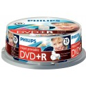 DVD+R 4.7GB (25 buc. Spindle, 16x), printabil, PHILIPS