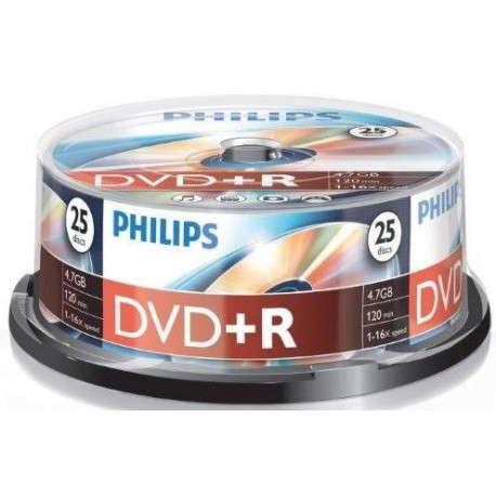 DVD+R 4.7GB (25 buc. Spindle, 16x) PHILIPS