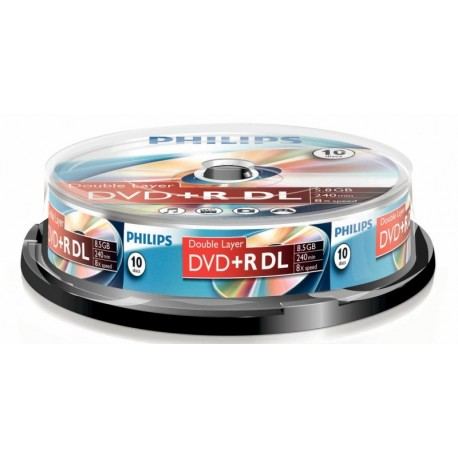 DVD+R 8.5GB Double layer (10 buc. Spindle, 8x) PHILIPS