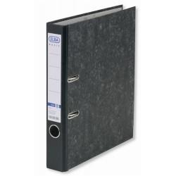 Biblioraft A4, margine metalica, 50mm, ELBA Smart - marmorat cu cotor negru