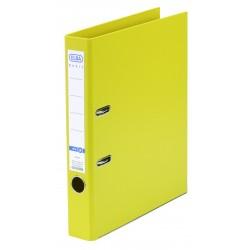 Biblioraft A4, plastifiat PP/PP, margine metalica, 50 mm, ELBA Smart Pro+ - galben