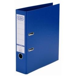 Biblioraft A4, plastifiat PP/PP, margine metalica, 80 mm, ELBA Smart Pro+ - albastru