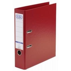 Biblioraft A4, plastifiat PP/PP, margine metalica, 80 mm, ELBA Smart Pro+ - rosu