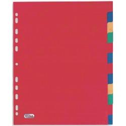 Separatoare carton color, A4 XL, 225g/mp, 12 culori/set, ELBA