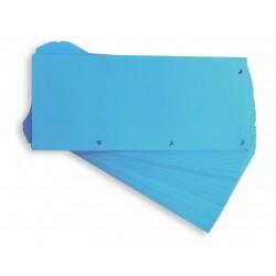 Separatoare carton pentru biblioraft, 190g/mp, 105 x 240 mm, 60/set, ELBA Duo - albastru