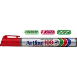 Permanent marker ARTLINE 109, corp plastic, varf tesit 2.0-5.0mm - rosu