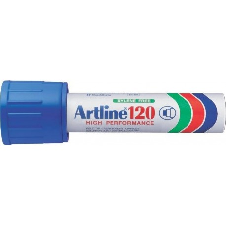 Permanent marker ARTLINE 120, corp metalic, varf tesit 20.0mm - albastru