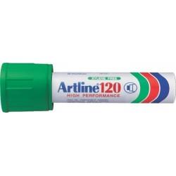 Permanent marker ARTLINE 120, corp metalic, varf tesit 20.0mm - verde