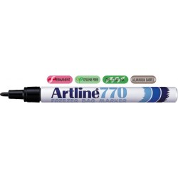 Marker ARTLINE 770, pentru pachete congelate, corp metalic, varf rotund 1.0mm - negru