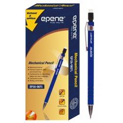 Creion mecanic rubber grip, 0.7mm, clema metalica, EPENE - corp albastru