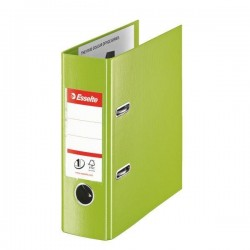 Biblioraft A5, plastifiat PP/PP, margine metalica, 75 mm, ESSELTE - verde vivida