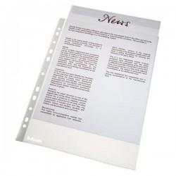 Folie protectie pentru documente, 46 microni, 100folii/set, ESSELTE - transparent