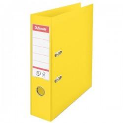 Biblioraft A4, plastifiat PP/PP, margine metalica, 75 mm, ESSELTE No. 1 Power - galben vivida