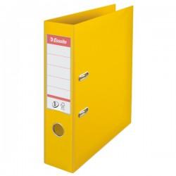 Biblioraft A4, plastifiat PP/PP, margine metalica, 75 mm, ESSELTE No. 1 Power - galben