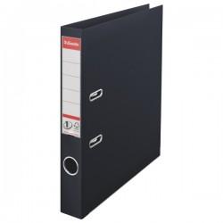Biblioraft A4, plastifiat PP/PP, margine metalica, 50 mm, ESSELTE No. 1 Power - negru vivida