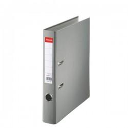 Biblioraft A4, plastifiat PP, margine metalica, 50 mm, ESSELTE Economy - gri