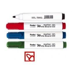 Marker pentru table de scris, varf rotund, corp plastic, FOSKA - verde