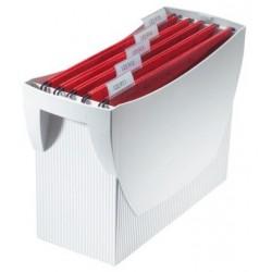Suport plastic pentru 20 dosare suspendabile, HAN Swing - gri deschis