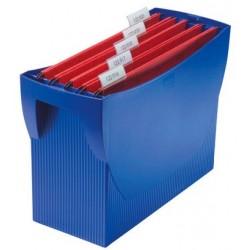 Suport plastic pentru 20 dosare suspendabile, HAN Swing - albastru
