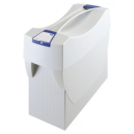 Suport plastic pentru 20 dosare suspendabile, cu capac, HAN Swing Plus - gri deschis