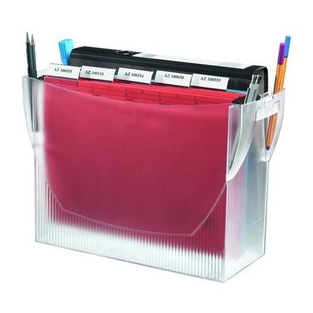 Suport plastic pentru 20 dosare suspendabile, HAN Swing Comfort - transparent mat